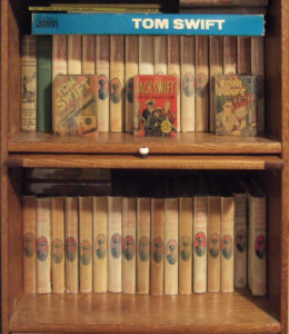 Part of the author's collection of Tom Swift books.