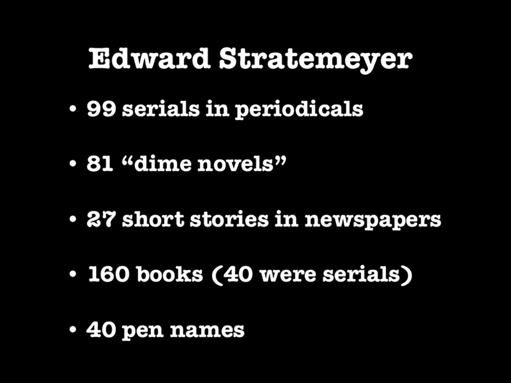 Edward Stratemeyer Statistics
