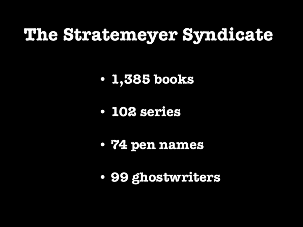 Stratemeyer Syndicate Statistics