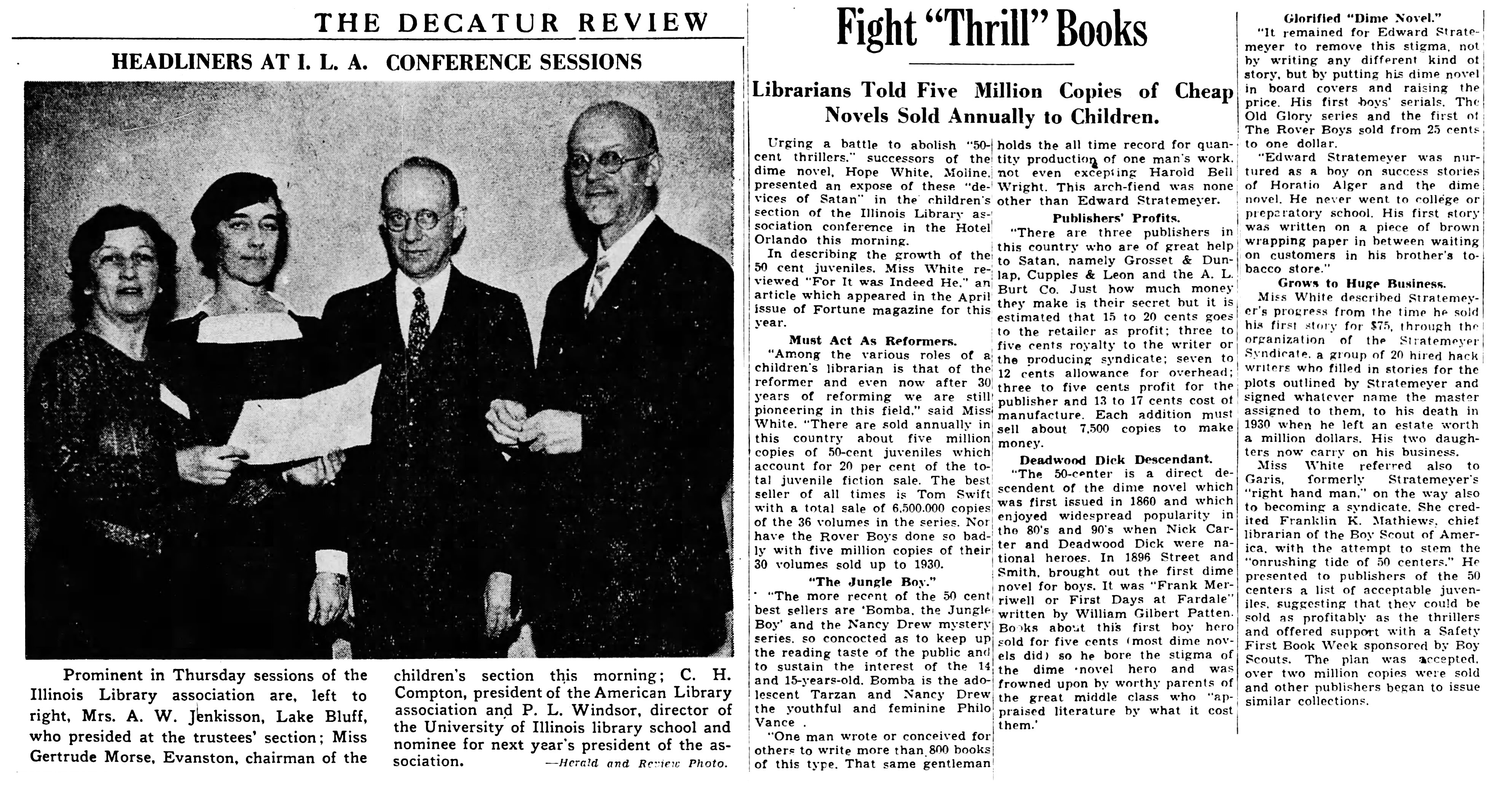 "Librarians fight ""Thrill"" Books"